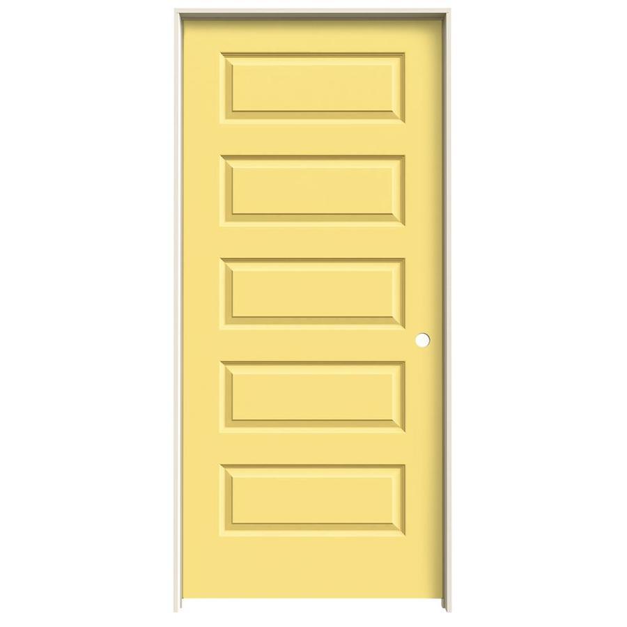 JELD-WEN Rockport Marigold Prehung Solid Core 5-Panel Equal Interior Door (Common: 36-in x 80-in; Actual: 37.562-in x 81.688-in)