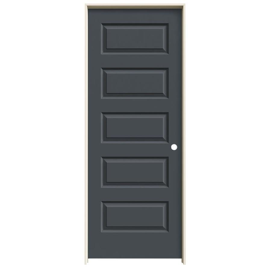 JELD WEN Rockport Slate 5 Panel Equal Solid Core Molded Composite Single  Prehung Door