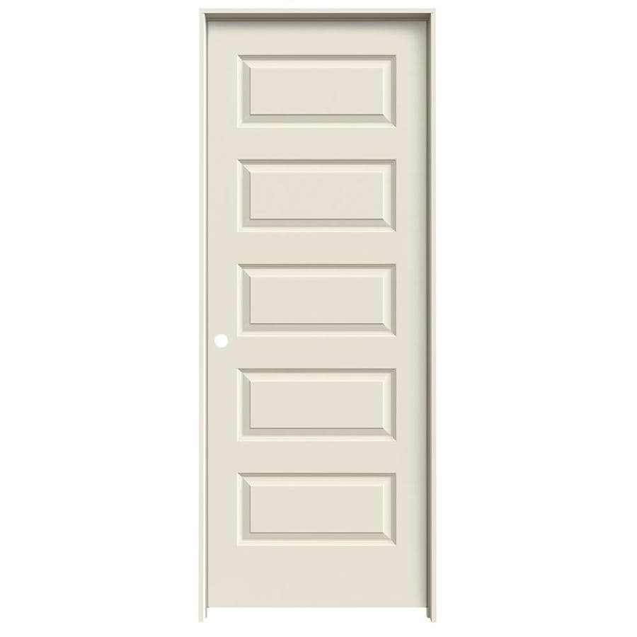 JELD-WEN Primed Solid Core Molded Composite Single Prehung Interior Door (Common: 24-in x 80-in; Actual: 25.562-in x 81.688-in)