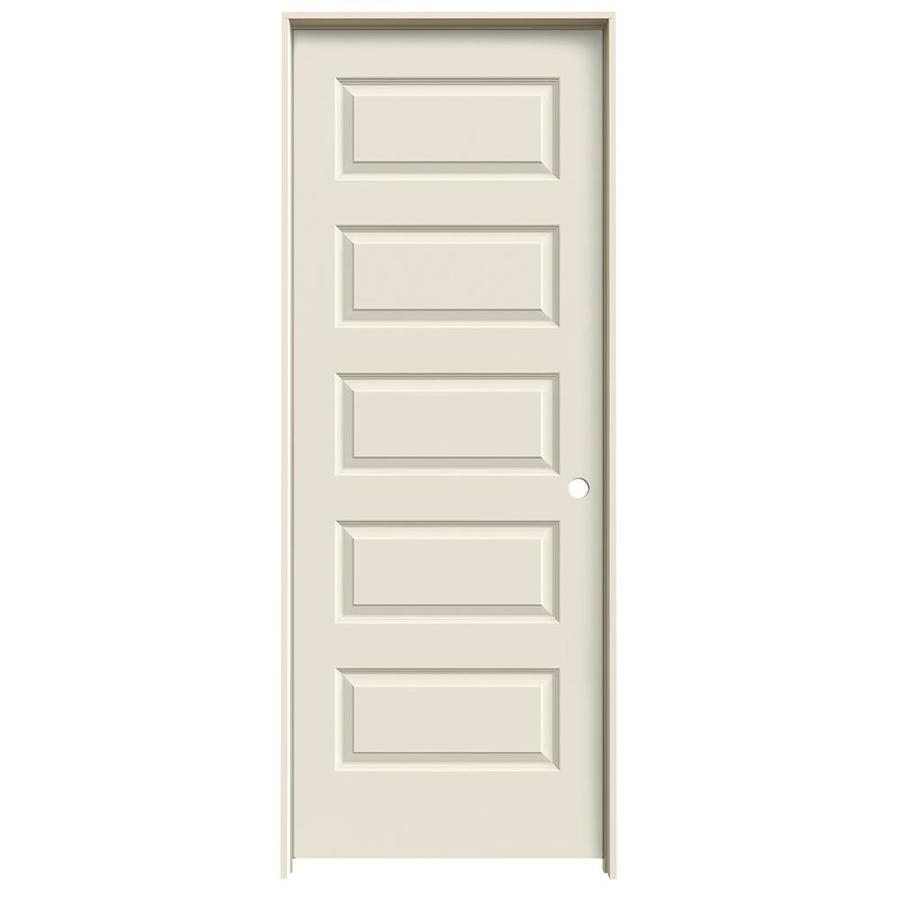 JELD-WEN Rockport Primed Solid Core Molded Composite Single Prehung Interior Door (Common: 32-in x 80-in; Actual: 33.5620-in x 81.6880-in)