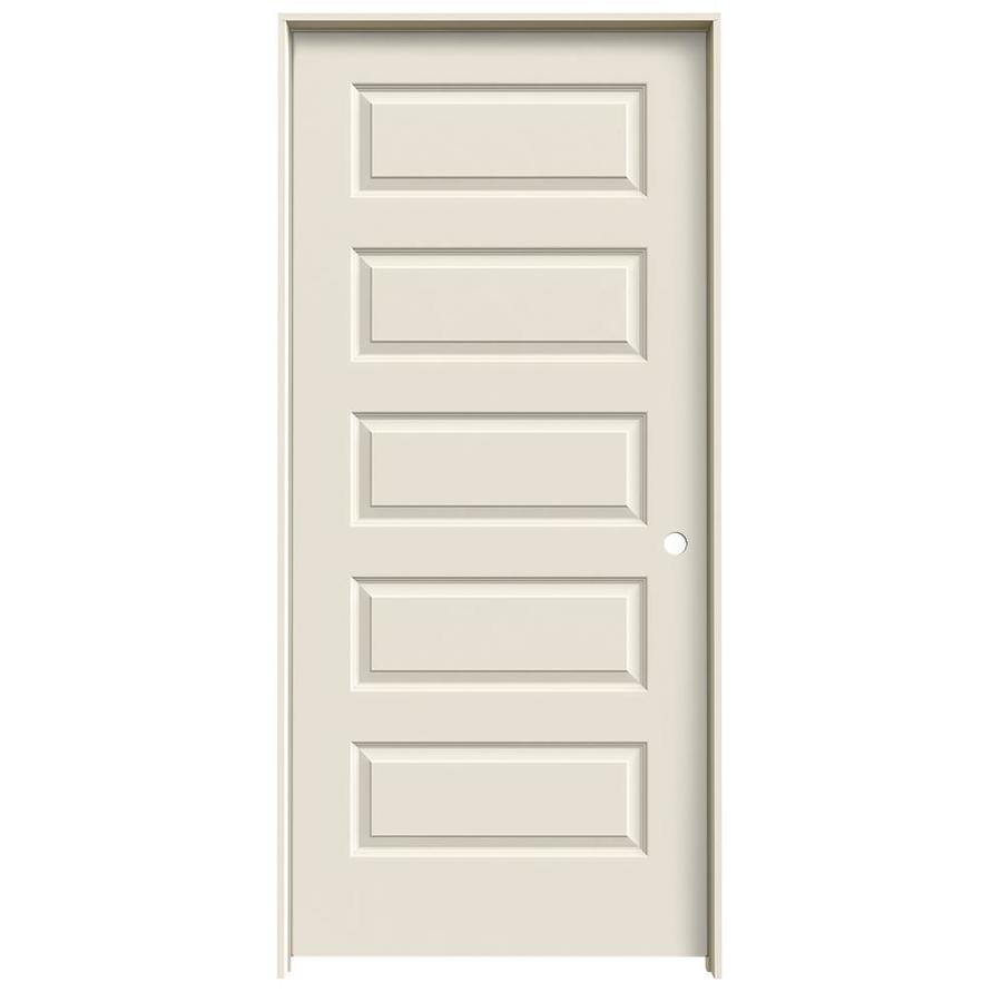 JELD-WEN Prehung Solid Core 5-Panel Equal Interior Door (Common: 36-in x 80-in; Actual: 37.562-in x 81.688-in)