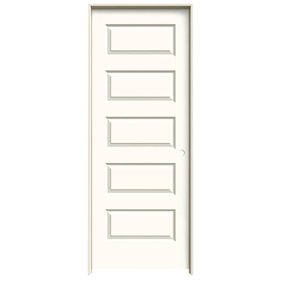 JELD-WEN White Prehung Hollow Core 5-Panel Equal Interior Door (Common: 30-in x 80-in; Actual: 31.562-in x 81.688-in)