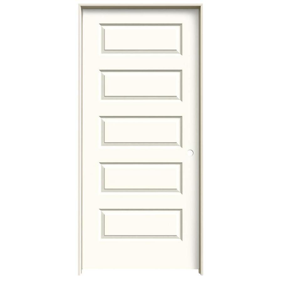 JELD-WEN Rockport White Hollow Core Molded Composite Single Prehung Interior Door (Common: 36-in x 80-in; Actual: 37.562-in x 81.688-in)