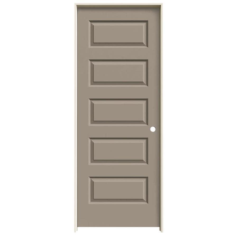 JELD-WEN Rockport Sand Piper Prehung Hollow Core 5-Panel Equal Interior Door (Common: 32-in x 80-in; Actual: 33.562-in x 81.688-in)