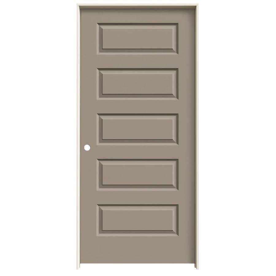 JELD-WEN Rockport Sand Piper Hollow Core Molded Composite Single Prehung Interior Door (Common: 36-in x 80-in; Actual: 37.562-in x 81.688-in)