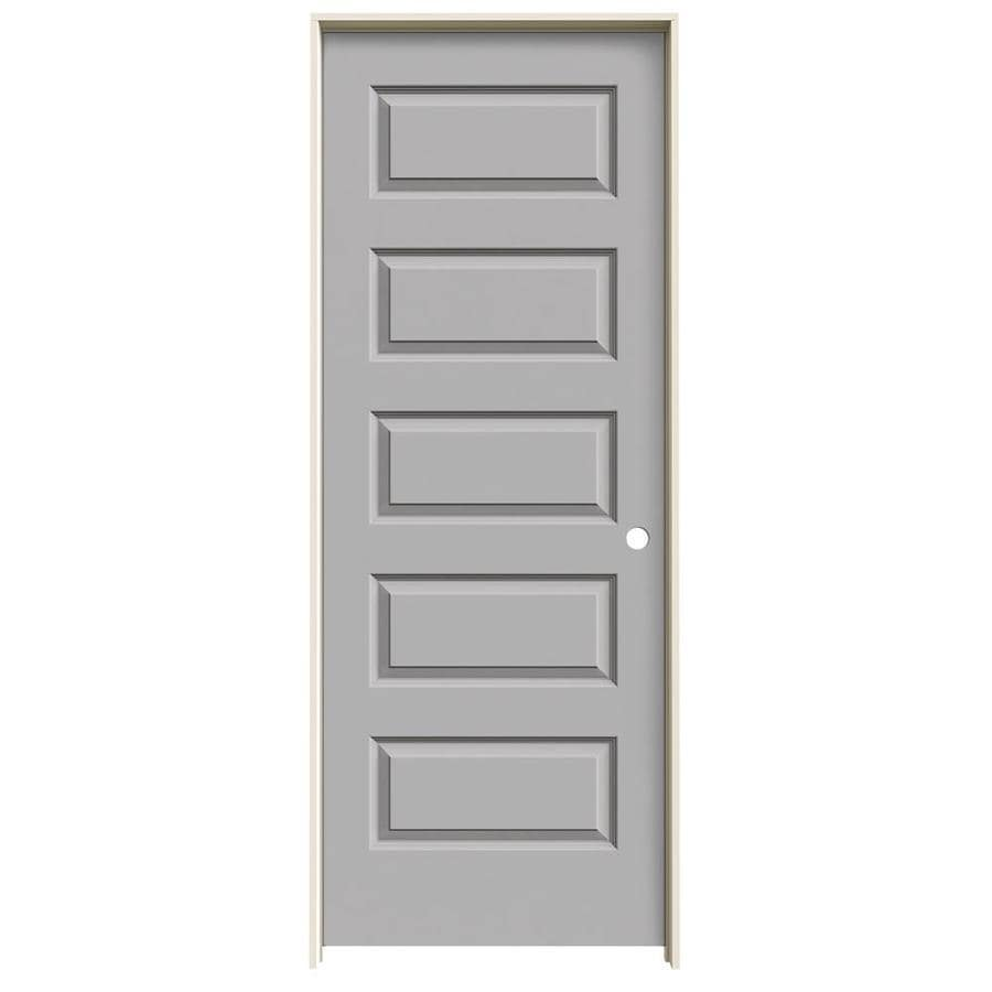 JELD-WEN Rockport Drift Hollow Core Molded Composite Single Prehung Interior Door (Common: 28-in x 80-in; Actual: 29.562-in x 81.688-in)