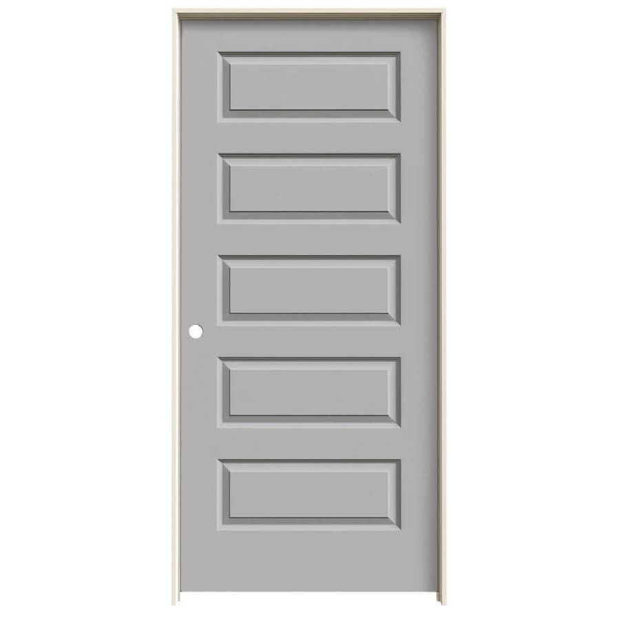 JELD-WEN Rockport Driftwood Single Prehung Interior Door (Common: 36-in x 80-in; Actual: 37.5620-in x 81.6880-in)