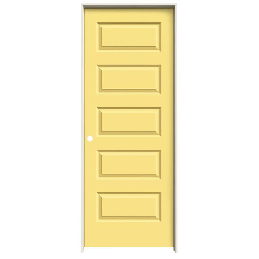 JELD-WEN Rockport Marigold Prehung Hollow Core 5-Panel Equal Interior Door (Common: 24-in x 80-in; Actual: 25.562-in x 81.688-in)