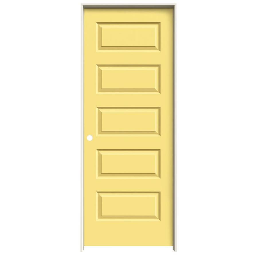 JELD-WEN Marigold Prehung Hollow Core 5-Panel Equal Interior Door (Common: 28-in x 80-in; Actual: 29.562-in x 81.688-in)