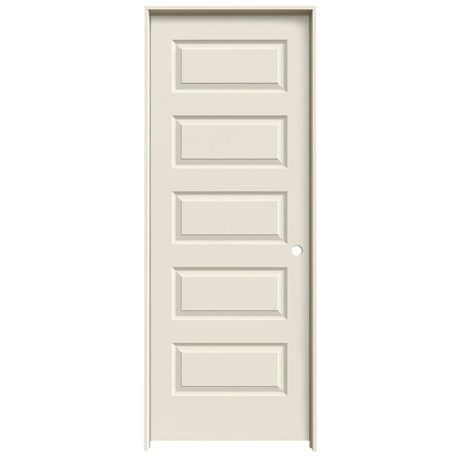 JELD-WEN Prehung Hollow Core 5-Panel Equal Interior Door (Common: 32-in x 80-in; Actual: 33.562-in x 81.688-in)