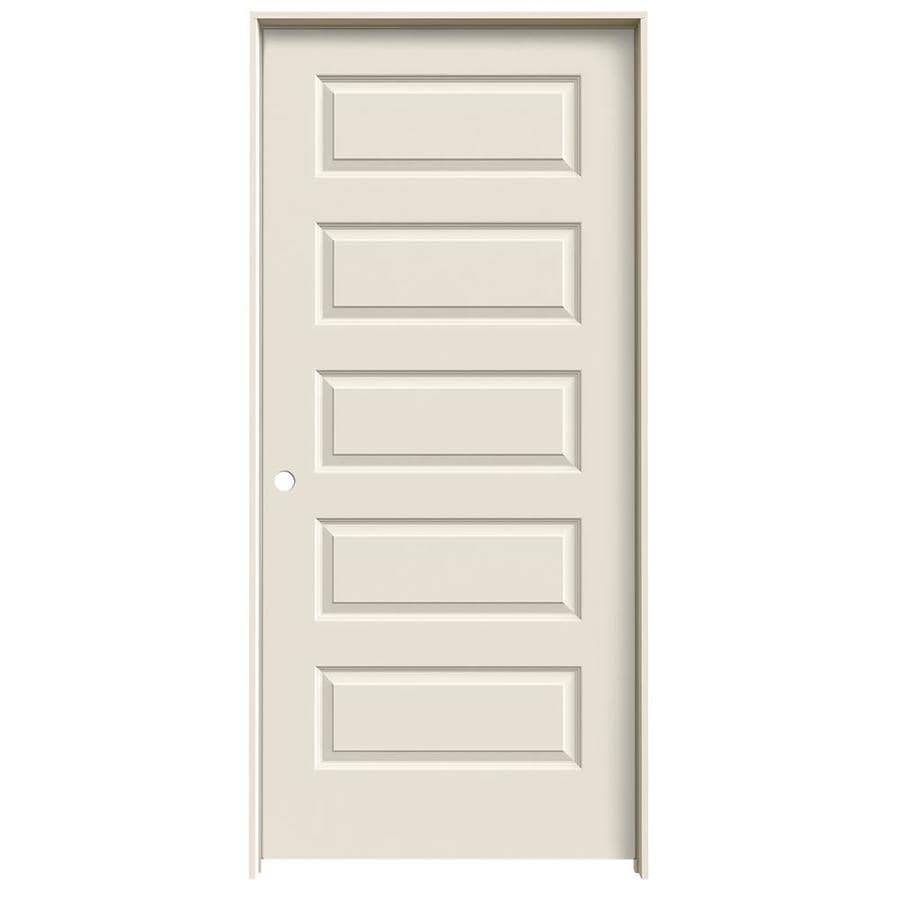 JELD-WEN Prehung Hollow Core 5-Panel Equal Interior Door (Common: 36-in x 80-in; Actual: 37.562-in x 81.688-in)