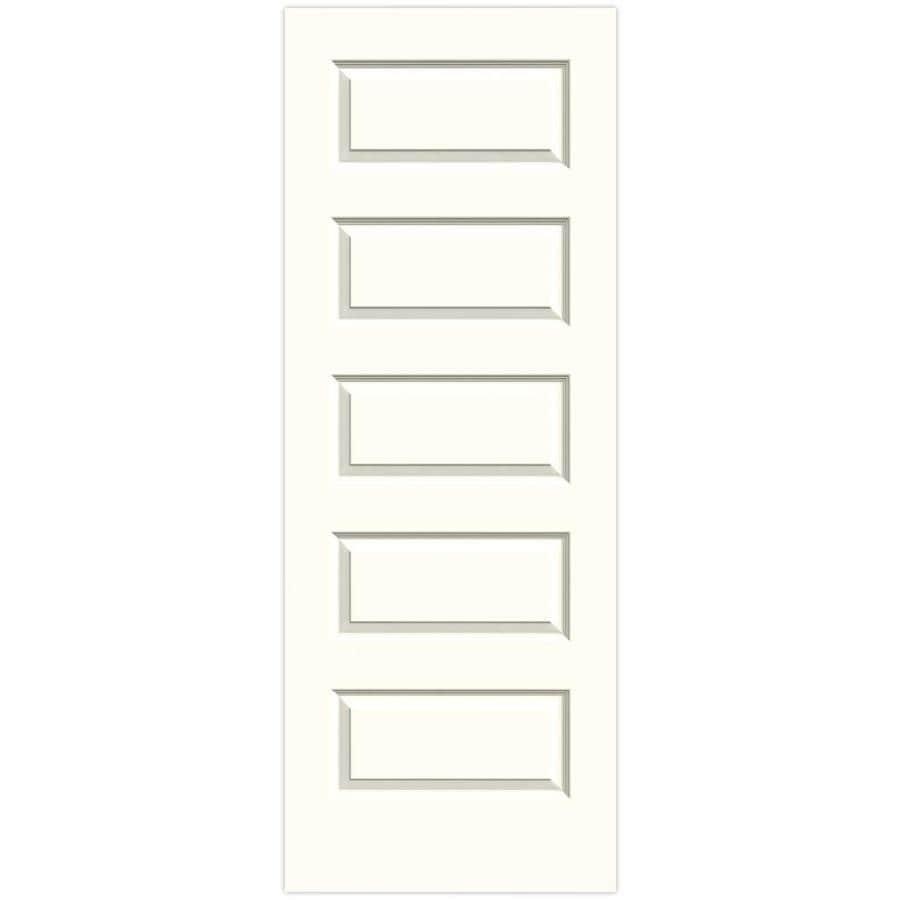 JELD-WEN Rockport Moonglow Solid Core Molded Composite Slab Interior Door (Common: 32-in x 80-in; Actual: 32-in x 80-in)