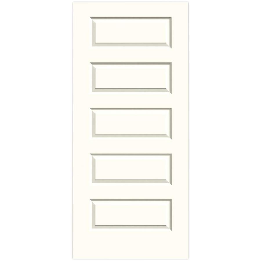 JELD-WEN Moonglow Solid Core 5-Panel Equal Slab Interior Door (Common: 36-in x 80-in; Actual: 36-in x 80-in)