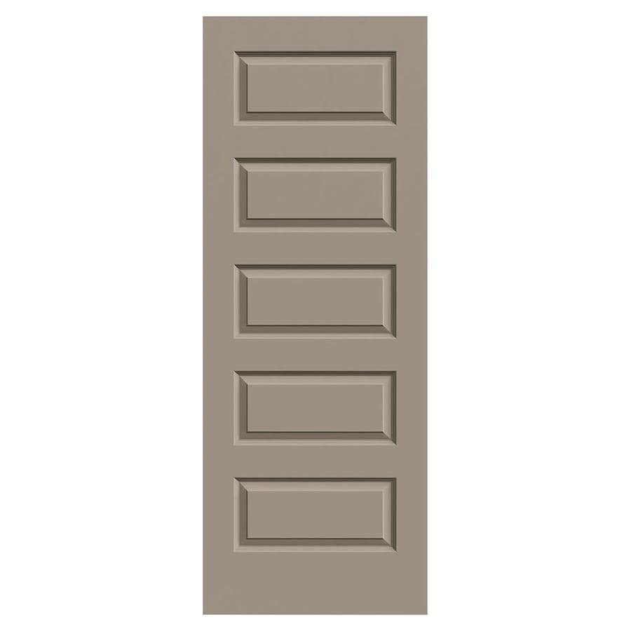 JELD-WEN Sand Piper Solid Core 5-Panel Equal Slab Interior Door (Common: 28-in x 80-in; Actual: 28-in x 80-in)