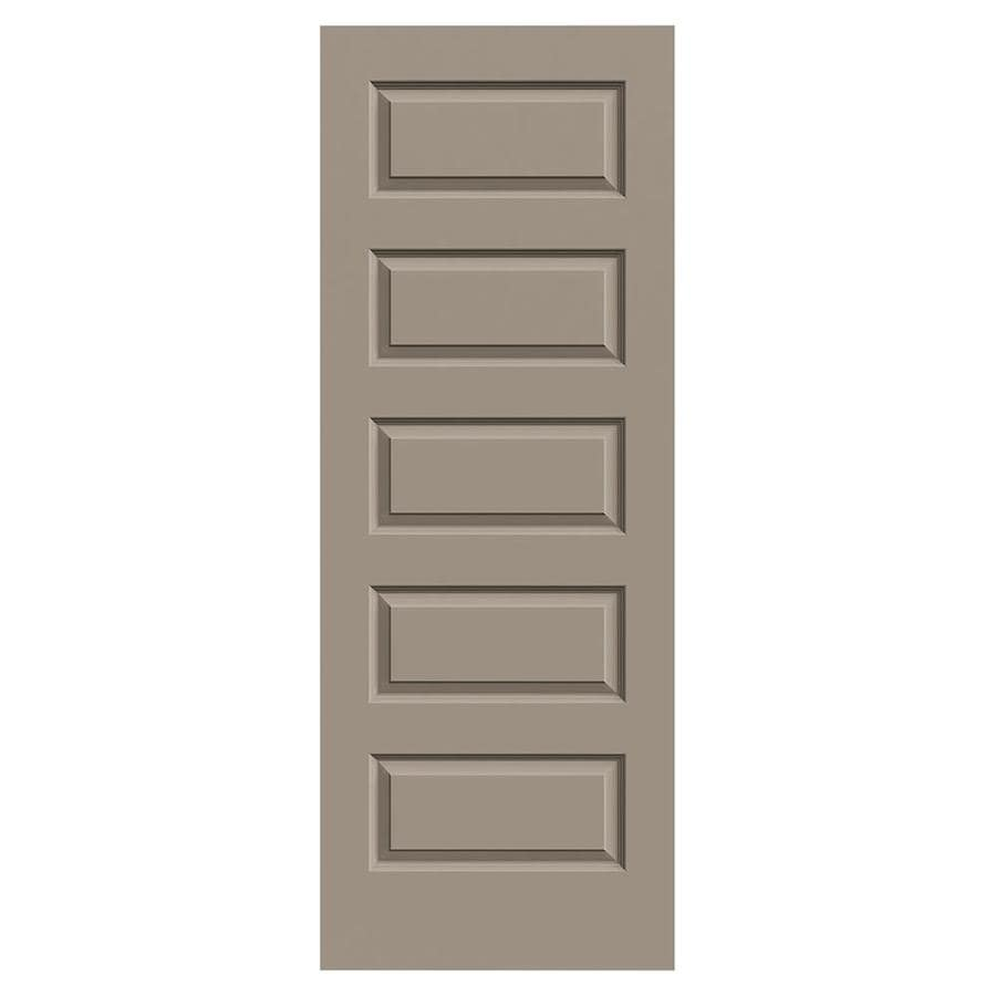 JELD-WEN Sand Piper Solid Core 5-Panel Equal Slab Interior Door (Common: 32-in x 80-in; Actual: 32-in x 80-in)