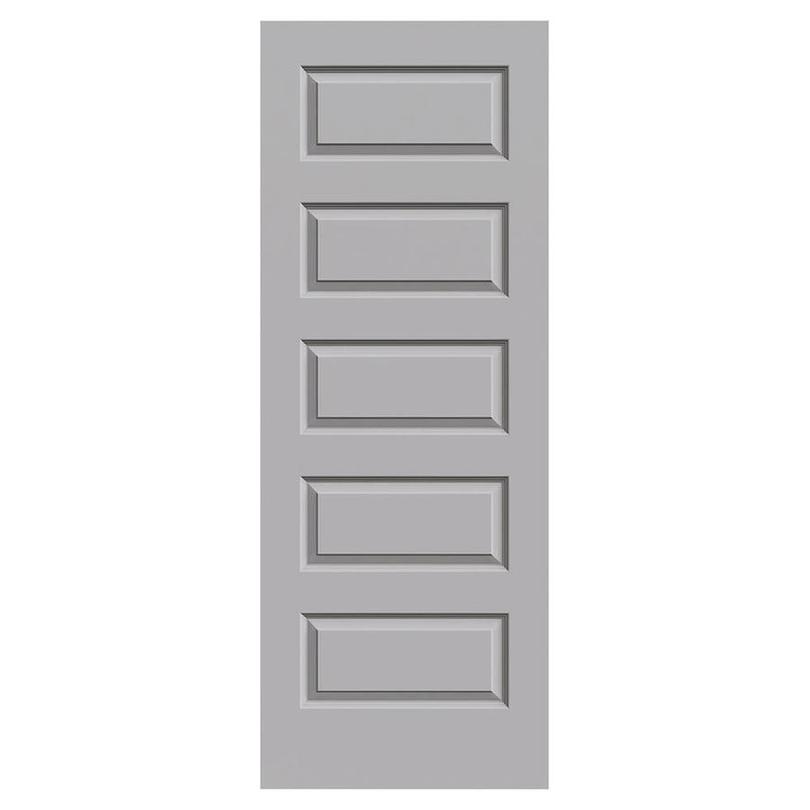 JELD-WEN Driftwood Solid Core 5-Panel Equal Slab Interior Door (Common: 24-in x 80-in; Actual: 24-in x 80-in)