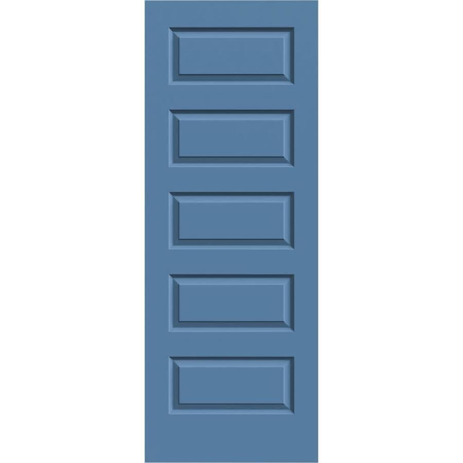 JELD-WEN Rockport Blue Heron Solid Core Molded Composite Slab Interior Door (Common: 24-in x 80-in; Actual: 24-in x 80-in)