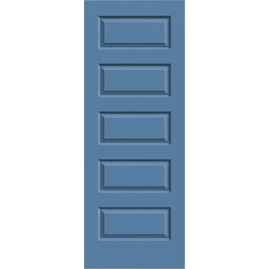 JELD-WEN Blue Heron Solid Core 5-Panel Equal Slab Interior Door (Common: 32-in x 80-in; Actual: 32-in x 80-in)