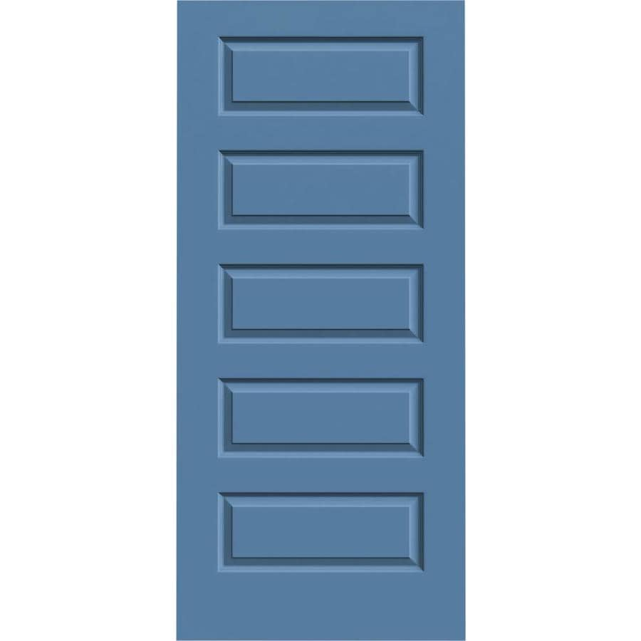 JELD-WEN Blue Heron 5-panel Equal Slab Interior Door (Common: 36-in x 80-in; Actual: 36-in x 80-in)