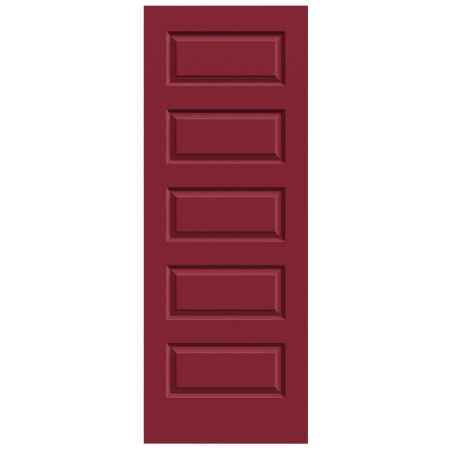 JELD-WEN Rockport Barn Red Solid Core Molded Composite Slab Interior Door (Common: 28-in x 80-in; Actual: 28-in x 80-in)