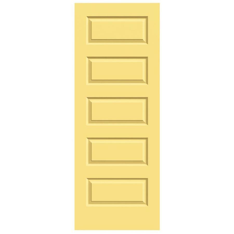 JELD-WEN Marigold Solid Core 5-Panel Equal Slab Interior Door (Common: 28-in x 80-in; Actual: 28-in x 80-in)
