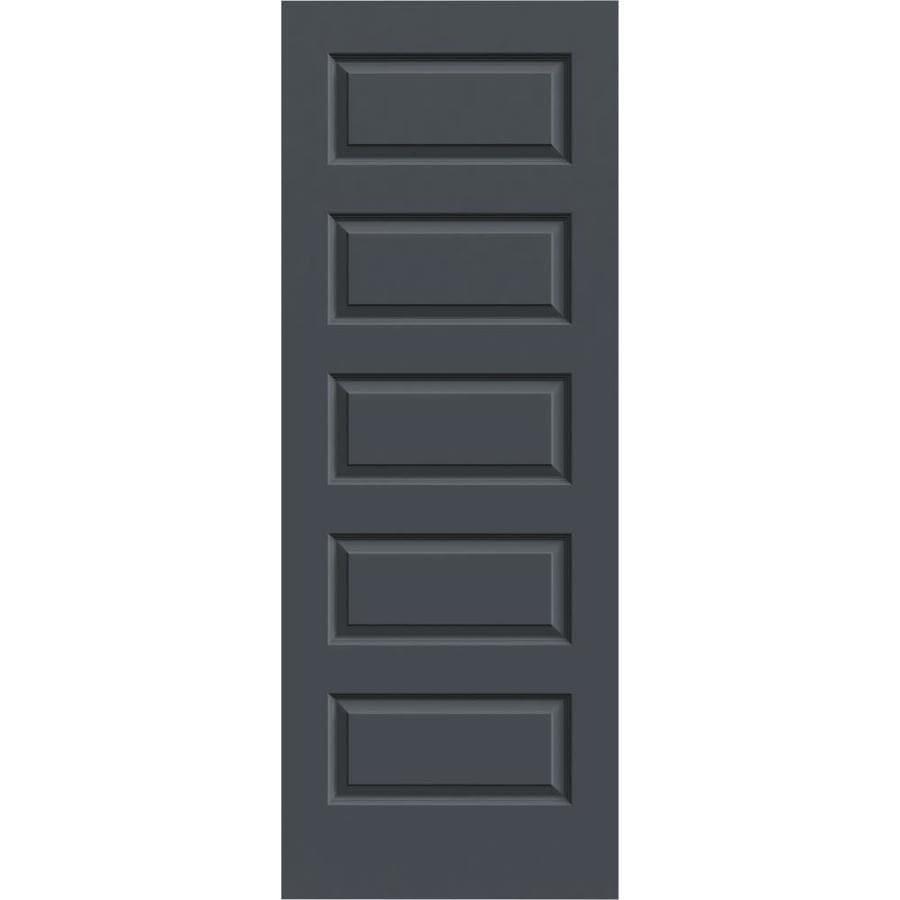 JELD-WEN Slate Solid Core 5-Panel Equal Slab Interior Door (Common: 24-in x 80-in; Actual: 24-in x 80-in)