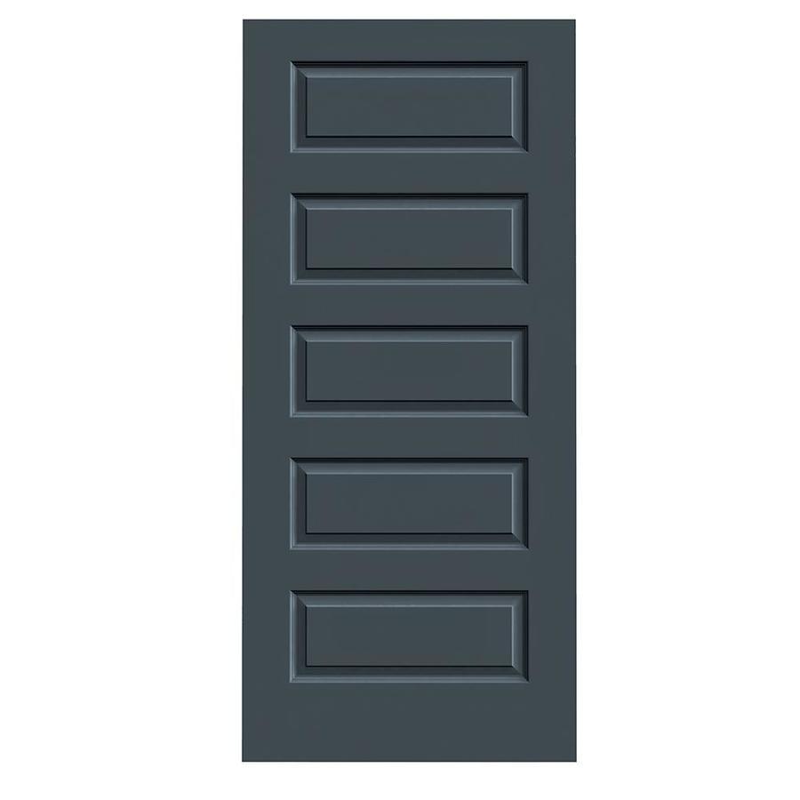 JELD-WEN Slate Solid Core 5-Panel Equal Slab Interior Door (Common: 36-in x 80-in; Actual: 36-in x 80-in)