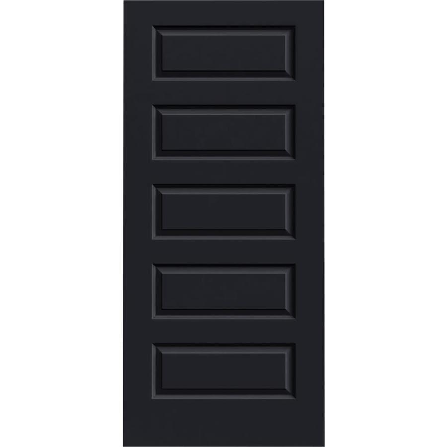 Shop Jeld Wen Rockport Midnight 5 Panel Equal Solid Core Molded Composite Slab Door Common 36