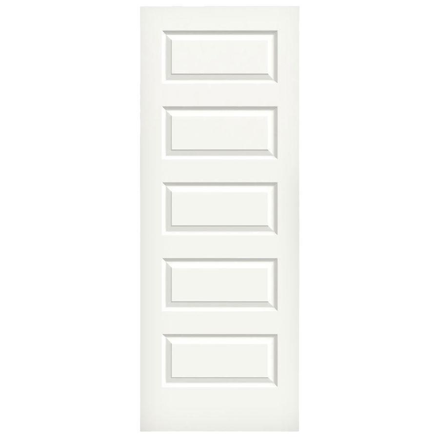 JELD-WEN White Hollow Core 5-Panel Equal Slab Interior Door (Common: 30-in x 80-in; Actual: 30-in x 80-in)