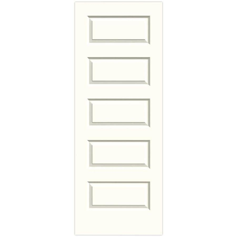 JELD-WEN Moonglow 5-panel Equal Slab Interior Door (Common: 24-in x 80-in; Actual: 24-in x 80-in)