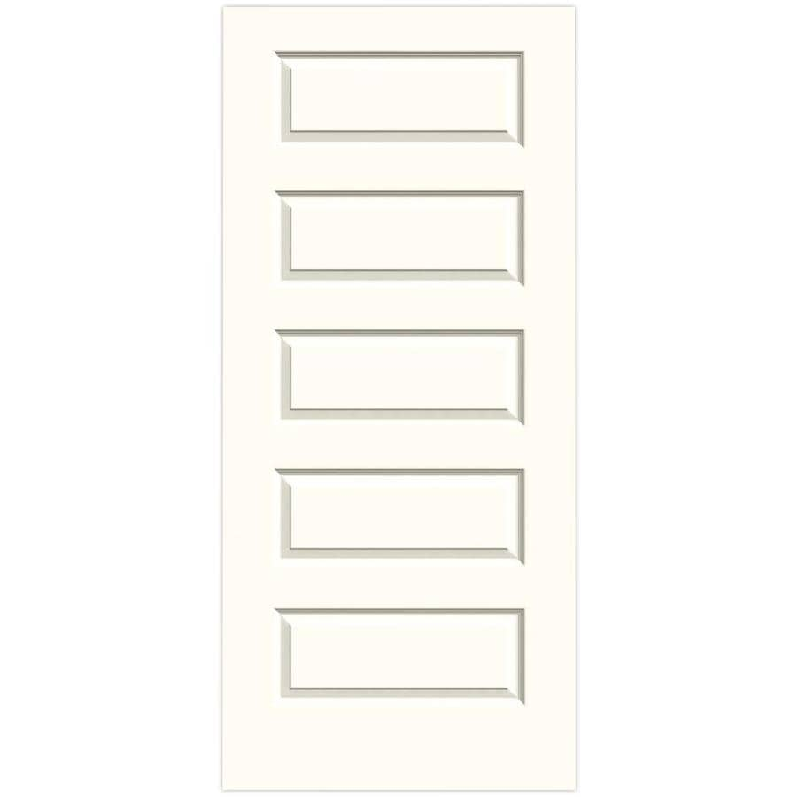 JELD-WEN Moonglow Hollow Core 5-Panel Equal Slab Interior Door (Common: 36-in x 80-in; Actual: 36-in x 80-in)
