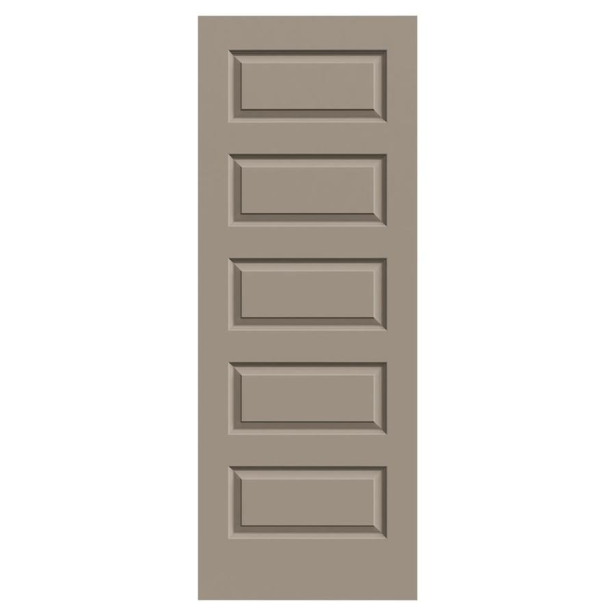 JELD-WEN Sand Piper Hollow Core 5-Panel Equal Slab Interior Door (Common: 32-in x 80-in; Actual: 32-in x 80-in)