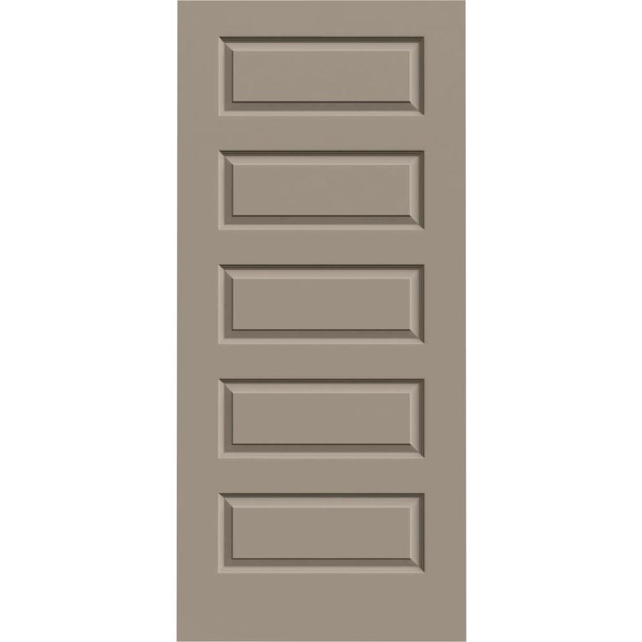 JELD-WEN Sand Piper Hollow Core 5-Panel Equal Slab Interior Door (Common: 36-in x 80-in; Actual: 36-in x 80-in)
