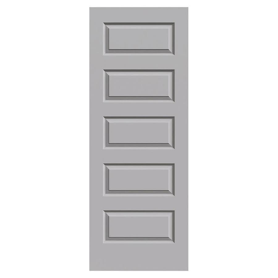 JELD-WEN Driftwood Hollow Core 5-Panel Equal Slab Interior Door (Common: 28-in x 80-in; Actual: 28-in x 80-in)