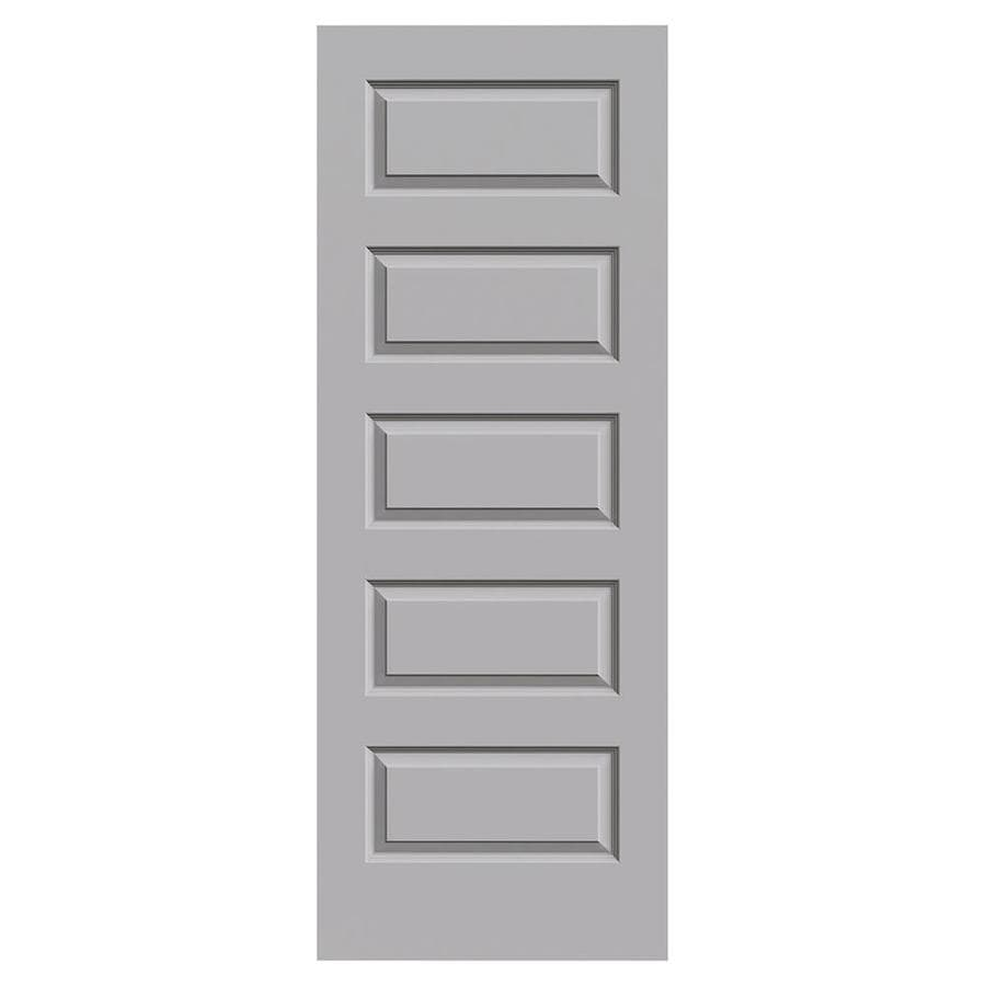 JELD-WEN Driftwood Hollow Core 5-Panel Equal Slab Interior Door (Common: 30-in x 80-in; Actual: 30-in x 80-in)