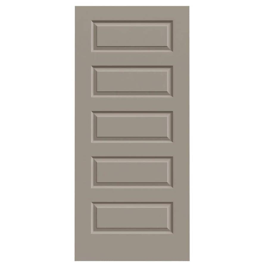 JELD-WEN Driftwood Hollow Core 5-Panel Equal Slab Interior Door (Common: 36-in x 80-in; Actual: 36-in x 80-in)