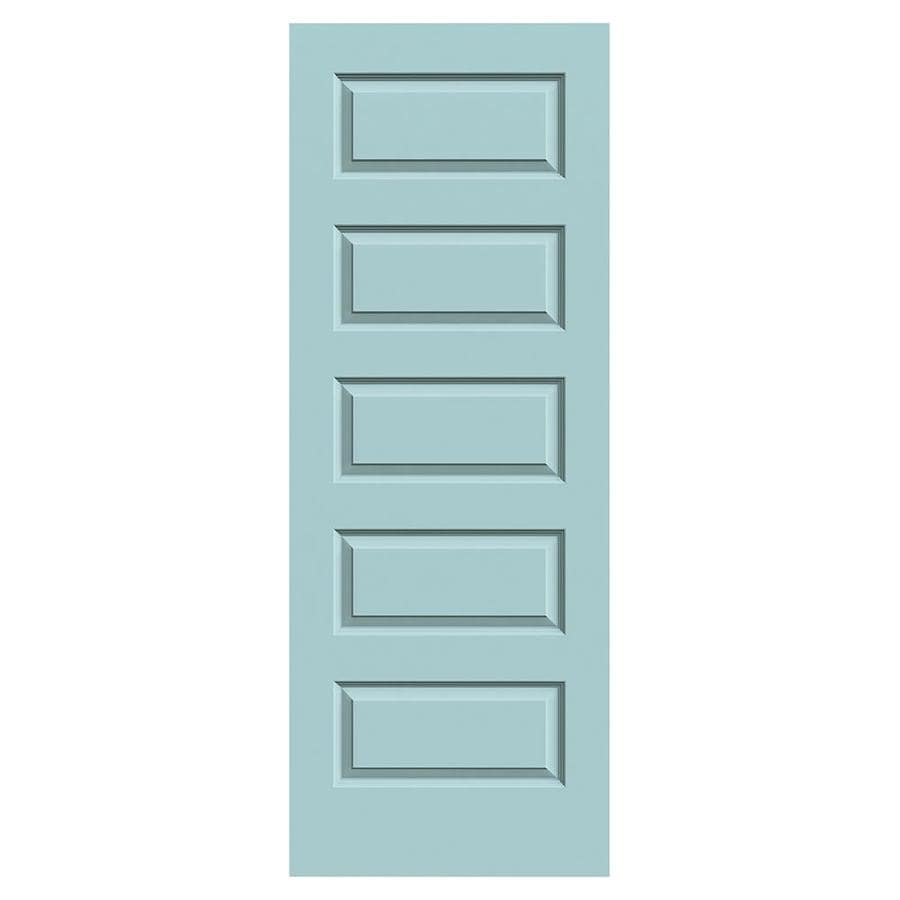 JELD-WEN Rockport Sea Mist Slab Interior Door (Common: 24-in x 80-in; Actual: 24-in x 80-in)