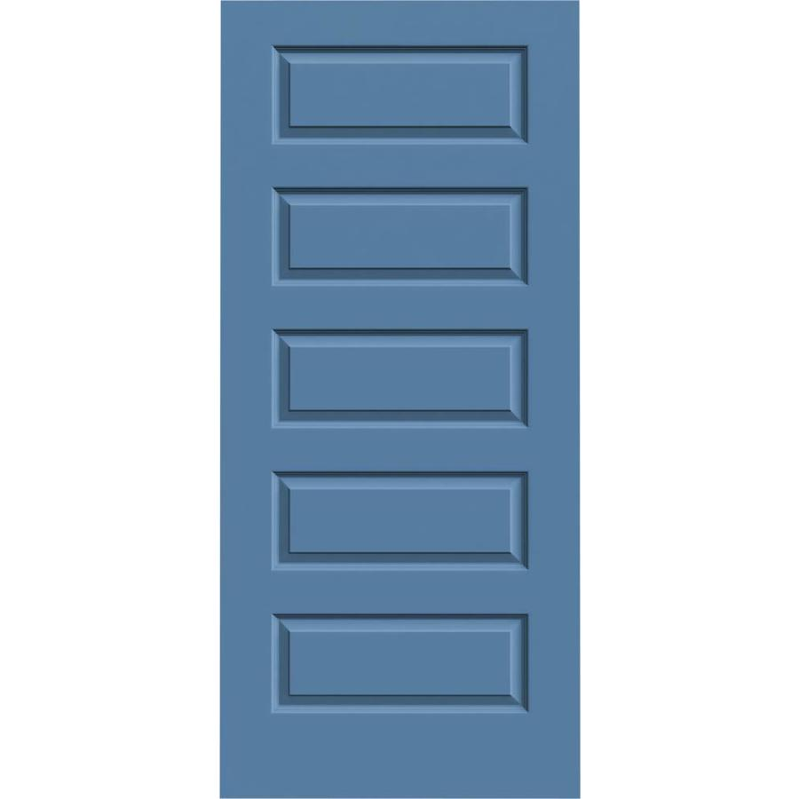 JELD-WEN Blue Heron Hollow Core 5-Panel Equal Slab Interior Door (Common: 36-in x 80-in; Actual: 36-in x 80-in)