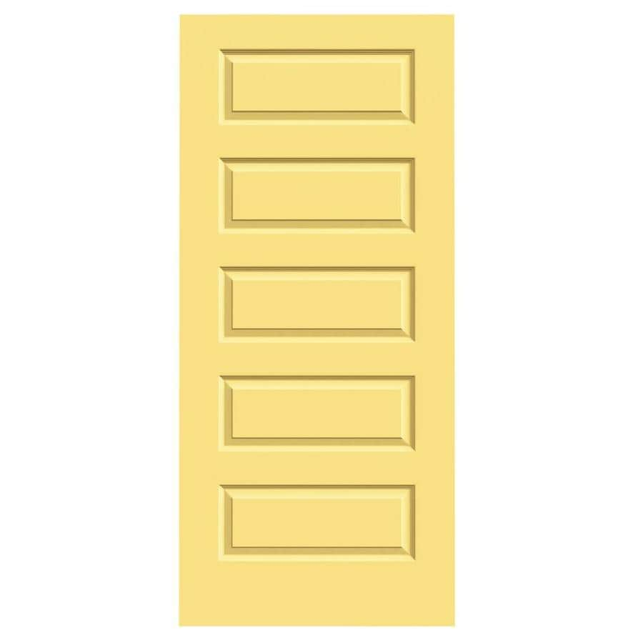 JELD-WEN Marigold Hollow Core 5-Panel Equal Slab Interior Door (Common: 36-in x 80-in; Actual: 36-in x 80-in)