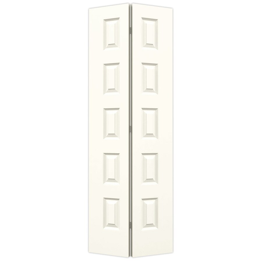 JELD-WEN Rockport White Hollow Core Molded Composite Bi-Fold Closet Interior Door with Hardware (Common: 28-in x 80-in; Actual: 27.5000-in x 79-in)
