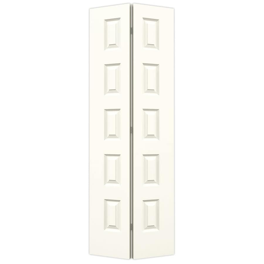 JELD-WEN Rockport White Hollow Core Molded Composite Bi-Fold Closet Interior Door with Hardware (Common: 32-in x 80-in; Actual: 31.5-in x 79-in)