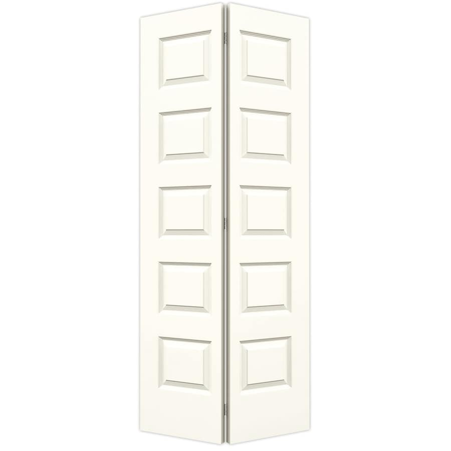 JELD-WEN Rockport White Hollow Core Molded Composite Bi-Fold Closet Interior Door with Hardware (Common: 36-in x 80-in; Actual: 35.5000-in x 79-in)