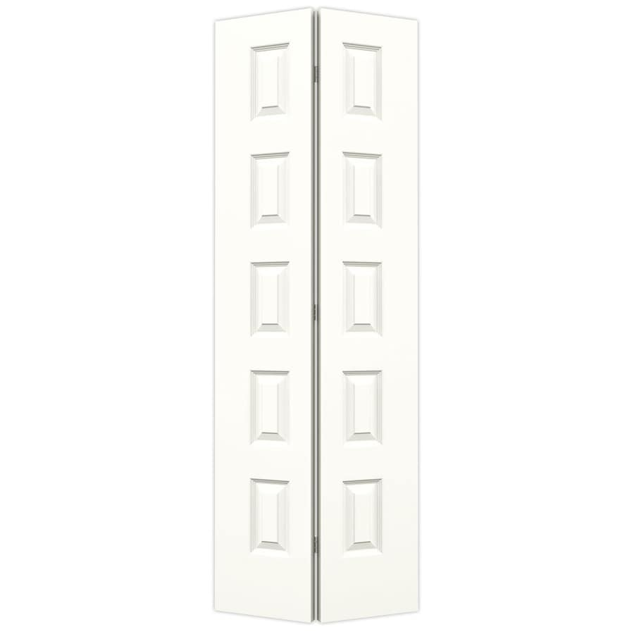 JELD-WEN Snow Storm Hollow Core 5-Panel Equal Bi-Fold Closet Interior Door (Common: 30-in x 80-in; Actual: 29.5-in x 79-in)