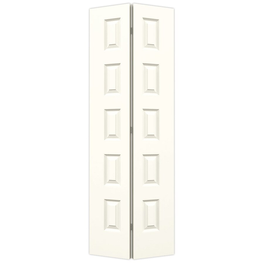 JELD-WEN Moonglow Hollow Core 5-Panel Equal Bi-Fold Closet Interior Door (Common: 24-in x 80-in; Actual: 23.5-in x 79-in)