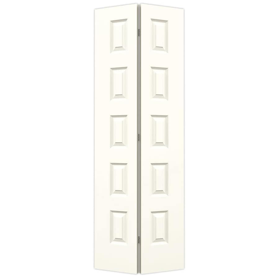 JELD-WEN Rockport Moonglow Hollow Core Molded Composite Bi-Fold Closet Interior Door with Hardware (Common: 28-in x 80-in; Actual: 27.5-in x 79-in)