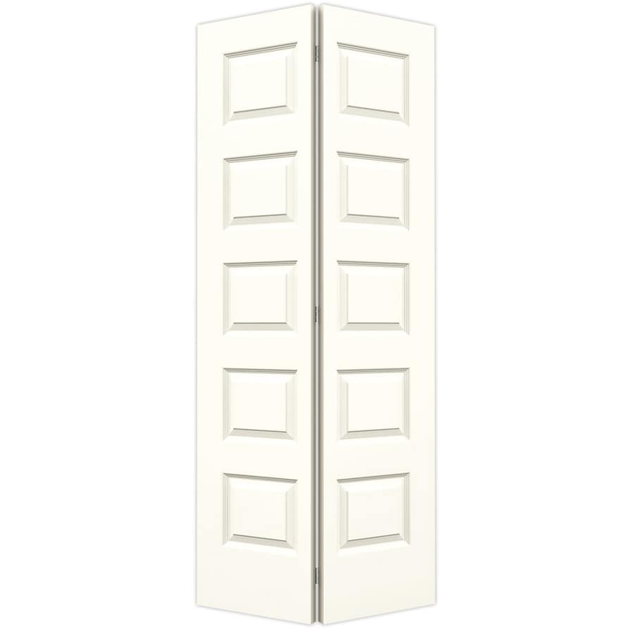JELD-WEN Rockport Moonglow Hollow Core Molded Composite Bi-Fold Closet Interior Door with Hardware (Common: 36-in x 80-in; Actual: 35.5-in x 79-in)