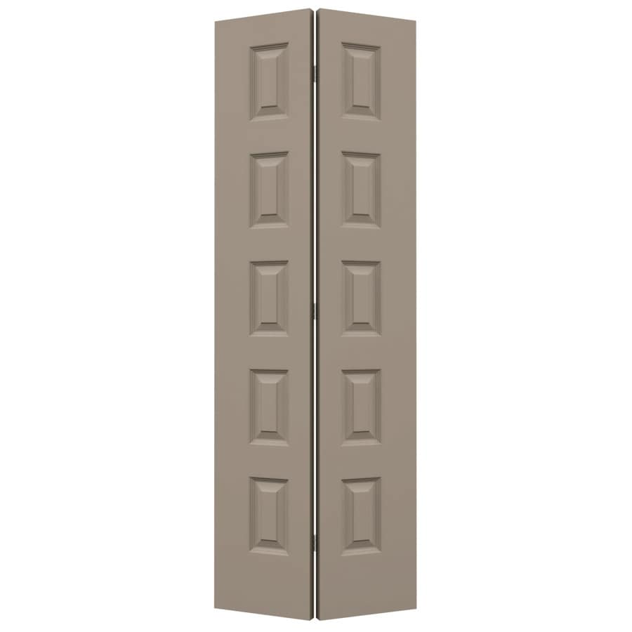 Shop jeld wen rockport sand piper hollow core molded for 27 inch bifold interior doors