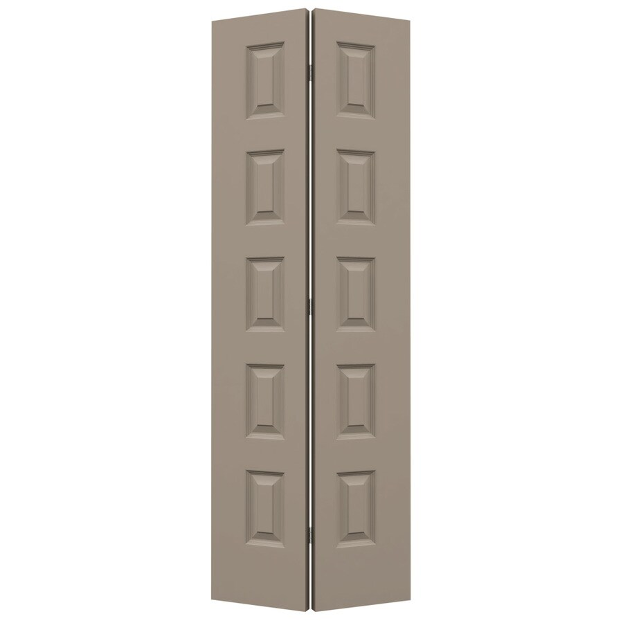 JELD-WEN Sand Piper Hollow Core 5-Panel Equal Bi-Fold Closet Interior Door (Common: 28-in x 80-in; Actual: 27.5-in x 79-in)