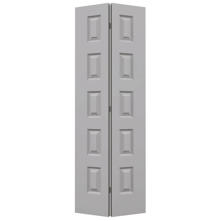 JELD-WEN Rockport Drift Hollow Core Molded Composite Bi-Fold Closet Interior Door with Hardware (Common: 28-in x 80-in; Actual: 27.5-in x 79-in)