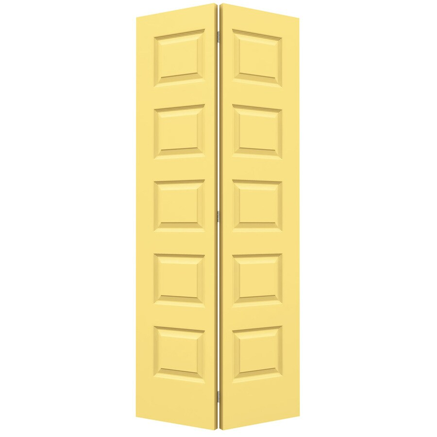 JELD-WEN Rockport Marigold Hollow Core Molded Composite Bi-Fold Closet Interior Door with Hardware (Common: 36-in x 80-in; Actual: 35.5-in x 79-in)